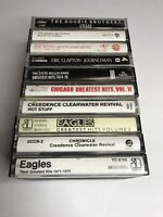 Lot Of 10 Cassette Tapes CCR Eagles Chicago Doobie Bros Steve Miller Clapton