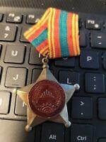 b0481 Vietnam Era Khmer Cambodia Cap badge 1960/'s-70/'s ir12b
