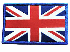 UNION JACK CLOTH PATCH Great Britain velcro flag badge Team GB Red white & blue