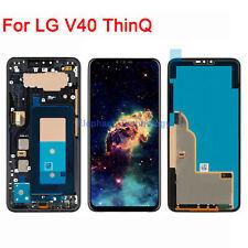 QC For LG V40 ThinQ V400N V405UA LCD Display Touch Screen Digitizer +Frame