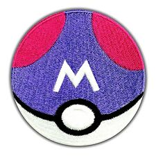 Master Ball Patch Pokemon Go Embroidered Iron On Pikachu Nintendo Cartoon Logo