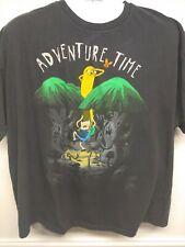 New listing Cartoon Network Adventure Time T-shirt Adult Men 2 XL Black. Short Sleeve