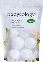 Bodycology Pure White Gardenia Bath Soak Fizzies Bombs 8 - 2.1 Oz Balls