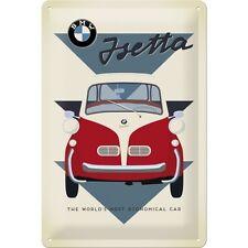 BMW ISETTA OLDTIMER * AUTO * BLECHSCHILD * NOSTALGIE * RETRO * 20X30 * NEU!