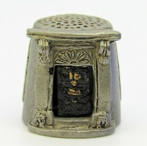 COLLECTABLE PEWTER THIMBLE 'NO. 10 DOWNING STREET, HOME OF BRITAIN'S' PREMIER