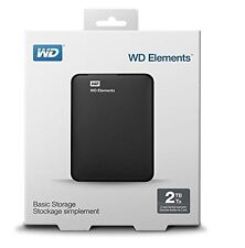 "Western Digital WD Elements 2TB 2.5"" Portable External Hard Drive USB 3.0 2 TB"