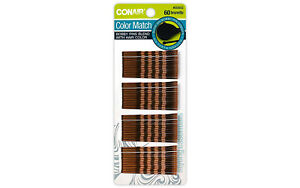 1 Pack Conair Styling Essentials Bobby Pins, Brunette - 60 pcs