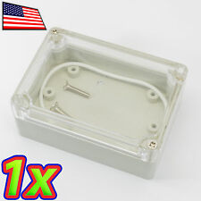 Mini IP65 ABS Plastic Box Enclosure Clear Project Case 88x58x33mm - Waterproof