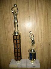"Basketball Figure Trophy - Wood Marble Base 13"""