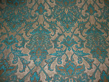 """Chenille Upholstery 57"""" Wide Marina Damask Drapery home fabric by the yard"""