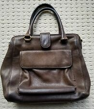 Vintage Brown Leather Fossil Doctor Handbag Purse