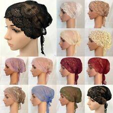 Full Lace Muslim Bandage Cap Underscarf Islamic HeadCover Hijab Women Turban Hat