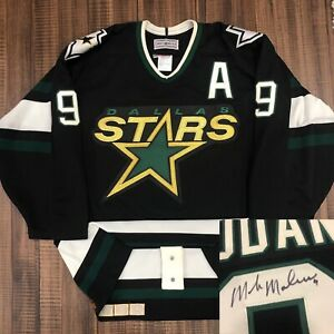 Autographed Mike Modano CCM Authentic Dallas Stars NHL Hockey Jersey Black 44