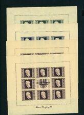 Österreich 1946 Kleinbogensatz Renner Michel Nr. 772B-775B ungezähnt postfrisch