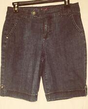 Gloria Vanderbilt Bermuda/Walking Shorts Blue Denim Size 4 Women's