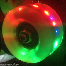 Light Up LED Roller Skate Wheels Roller Derby Speed Skates Green 57mm set of 4