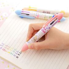 Multifunction 7 In 1 Multicolor Ballpoint Pen Cartoon Animal School Supplies NEW