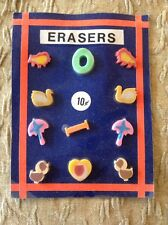 Vintage Vending Display Card Heart Umbrellas Swans Chicks Letters 'I' and 'O'