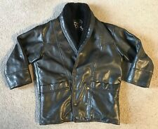 T Shearling Made in Italy Men's Leather Coat Jacket - Size Large / XL