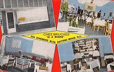 FL 1930's FLORIDA Chez Bruchez French Restaurant Daytona Beach FLA