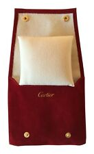 Cartier Suede Watch Bracelet Travel Service Pouch with Cushion