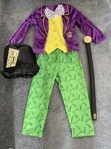 Roald Dahl Willy Wonka Charlie Chocolate Factory Costume Fancy Dress 5-6 Years
