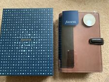 Filofax Personal Organiser Holborn Nubuck Leather brown diary New