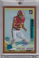 Bryce Love 2019 Donruss Optic Rated Rookie Bronze Refractor Rc Auto