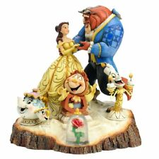 Disney Traditions by Jim Shore Beauty and the Beast Carved by Heart Stone Resin