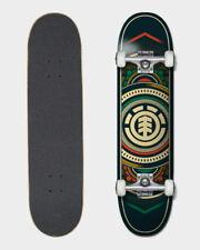 Element Skateboard Complete Hatched RED GREEN Pre-Assembled