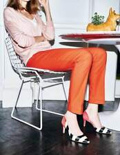 BODEN WOMEN'S  STRAIGHT LEG CHELSEA TURN UP TROUSERS PANTS US 4 L *