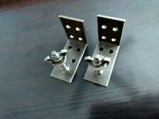 "Qty. (2) Roman Shade Bronze Mounting Installation L-Brackets 2"" Projection"