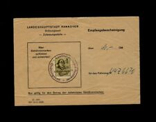 Hanover Germany State Capitol Toll Receipt with Revenue Stamp from the 1970s