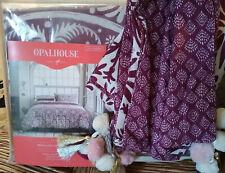 TARGET Queen Duvet Cover Set 3PCS PURPLE BATIK FLORAL Tassels