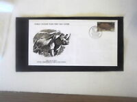 WORLD WILD LIFE FUND FIRST DAY COVER BLACK RHINOCEROS SOUTH AFRICA