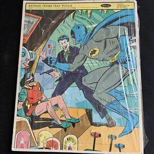 Vintage Batman Puzzle Tray Frame No,4518  Whitman 1966 Lightly Used Joker Robin