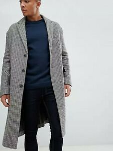 Checked Overcoat - Bought from ASOS never worn - Size S