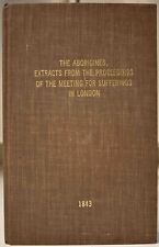 1843 THE ABORIGINES Meeting For Sufferings in London Committee on Indian Affairs