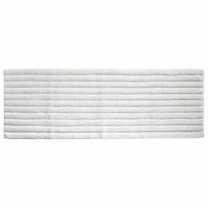 "mDesign Soft 100% Cotton X-Long Accent Rug Mat/Runner, Ribbed, 60"" x 21"" - White"