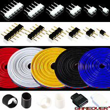 🔴 1-6 Pol Pin LED Zubehör LED Verbinder Stecker Buchse Kabel Schutzisolierung ✅