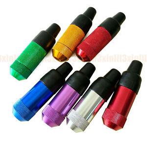 1PC Metal Rubber Nipple Snuff Shape Sniffer Mini Small Smoking Nose Pipe Random