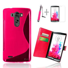 Hot Pink Wallet 4in1 Accessory Bundle Kit Case Cover For LG G3