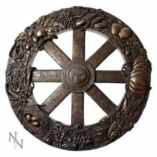 Wiccan Wheel Of The Year Witch Sabbaths Wall Plaque 25cm