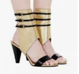 Sass and Bide Inner Wildling Metallic Leather Cuff Heel Fall 15' Size 39 RRP$650