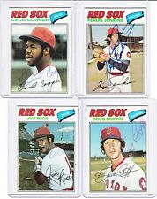 1977 Topps signed Doug Griffin autograph Red Sox w/COA