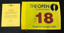 Ben Curtis Signed Autographed 2003 The Open Royal St. George's Pin Flag w/ COA
