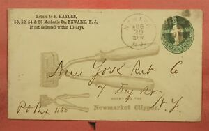 1878 STATIONERY NEWMARKET HAIR ? CLIPPER ALLOVER ADVERTISING NEWARK NJ