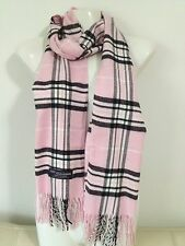 100% CASHMERE SCARF MADE IN SCOTLAND PLAID DESIGN SUPER SOFT UNISEX