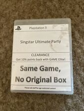 Singstar Ultimate Party PS3 Playstation 3 **FREE UK POSTAGE** Disc & Box Only