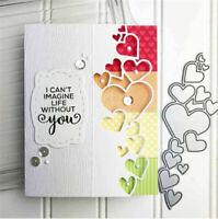Stanzschablone Herz Hochzeit Valentinstag Geburtstag Weihnachten Karte Album DIY